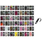 For iPod Touch 4th Gen 4G Color Design Hard Snap-On Case Cover+Stylus Plug