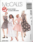 McCall's 8131 Misses' Dress in Two Lengths   Sewing Pattern