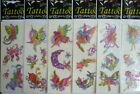 2 x Random Temporary Pretty Glitter Fairy Tattoos Fairies Fey Tattoo Tattoos 99p