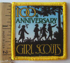 Girl Scout 1912-2012 100th Year ANNIVERSARY PATCH Woods Hiking Silhouette NEW