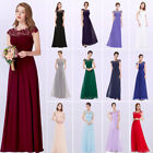 US Women's One Shoulder Long  Party Bridesmaid Formal Evening Gown Dress 09463