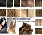 BANDE D'EXTENSIONS A CLIPS CHEVEUX 100% NATURELS INDIAN REMY HAIR 49, 60, 66CM