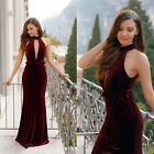 New Sexy V Neck  Bridesmaid Dress Evening Cocktail Party Prom Ball Gown 03644