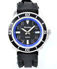 Henley Mens Modern Watch Black Silicone Strap red yellow blue silver Gift Idea
