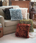 "Decorative Textured Throw Pillows 20"" Chocolate Misty Blue Ivory Sage or Spice"