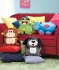 Kids Colorful Micro-Bead Animal Pillows Frog, Hippo, Monkey or Dog Cuddle Pillow