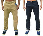 Mens Designer Branded Chinos Jeans Drop Crotch Tapered Fit Non Cuffed Retro Pant