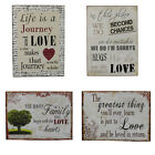 Inspirational Wooden Vintage Rustic Wall Plaque Sign Saying - Love Life Family