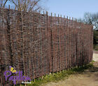 WOVEN WILLOW HURDLE FENCE PANEL 6ft NATURAL GARDEN FENCING SCREENING 5 Heights
