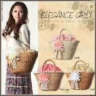 Lacework Chrysanthemum Rural Handmade Straw Handbag Shoulder Bag Shopping Purse