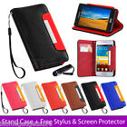 STAND WALLET PU LEATHER CASE COVER FOR SAMSUNG GALAXY S2 I9100 SCREEN PROTECTOR