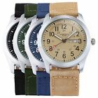 EYKI Overfly Date Day 4 Colors Nylon Strap Japan Movment Mens Quartz Wrist Watch