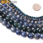"Natural Genuine Blue Green Kyanite Gemstone BeadsFor Jewelry Making 15"" Round"