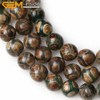 "Faceted Round 8mm Fire Agate Beads Jewelry Making Gemstone 15"" Various Colors"