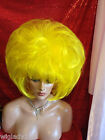 WOW  VEGAS GIRL WIGS ALINE big girl bubble pick your color  YELLOW SHOWN