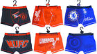 Boys Football Boxer Shorts Man Utd, Liverpool or Chelsea 5-12 yrs NEW