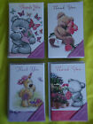 8 THANK YOU NOTELETS CARDS with envelopes  by  SIMON ELVIN   -  CUTE TEDDY BEARS