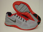 NEW Mens NIKE Lunarglide + 4 524977 013 Storm Grey Red Sneakers Shoes