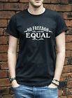 No Freedom till we're Equal TShirt Macklemore same love lgbt gay T-Shirt L532