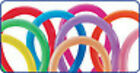 260 Party Twist Latex Balloons Fashion Colors, 10 Count