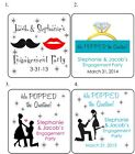 20 SQUARE Custom POPPED the Question ENGAGEMENT Party LABELS / STICKERS Popcorn