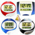 1 Digital LCD Desktop+Wall Clock,Thermometer,Time,12/24 Date,Day,Alarm,Calendar