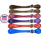 adults Metallic Leather western Spur Straps Made in the USA by Congress Leather