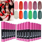 Pro 10ml Nail Art Soak Off Glitter Color UV Gel Polish UV LED Lamp 120 Colors