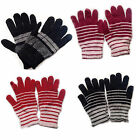 Black thermal half finger less glove stretch Magic knitted men women winter snow