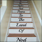 LARGE STAIRS UP THE APPLE AND PEARS TO LAND OF NOD  WALL STICKER TRANSFER DECAL
