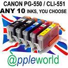 [ANY 10] CLI551 & PGI550 CHIPPED Ink carts compatible with CANON PIXMA printers