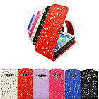 DIAMOND LEATHER FLIP CASE COVER & SCREEN PROTECTOR FOR SAMSUNG GALAXY S3 i9300