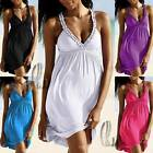 AU SELLER Celeb Style Sexy Deep V-Neck Soft Silk Cotton Dress/Beach Cover dr149