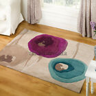 Infinite Poppy Modern Rugs - Teal & Purple