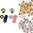 100x Gold Silver Alloy Metal Shell Loose Bead For Nail Art Stud Decoration Craft