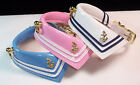 Sailor Dog Pet collar Patent Leather adorable! Choose blue pink or white 5 sizes