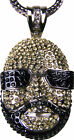 Silver Black Rick Ross Face Yellow Black Necklace Chain