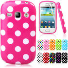 Colorful Polka Dots Silicone Gel Case Cover For Samsung Galaxy Fame S6810