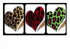 Rockabilly Leopard Heart Ring Natural Brown Red Green Psychobilly Punk Goth New