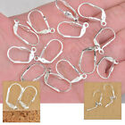 100-1000PC Leverback Earring Findings Sterling Silver Plate Shell Square Earwire