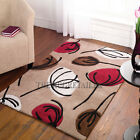 Inspire Rugs - Fifties Floral Chocolate & Red Modern Rugs