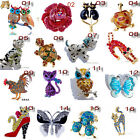 16Styles Enamel Rhinestone Crystal Animal Christmas Party Gift Brooch Pin Unisex