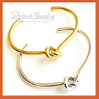 24K YELLOW ROSE WHITE GOLD GF VINTAGE LADY GIFT SOLID CHUNKY PLAIN ROUND BANGLE