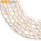 "Freeform 5-6x6-8mm Freshwater Pearl Jewelry Making Gemstone Beads 15"",Color Pick"