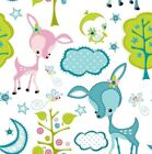 Dream a Little Dream Nursery Fabric, Main print Deer & Trees - Cute FQ or Meter