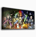 STAR WARS MONTAGE - PREMIUM LARGE GICLEE CANVAS ART