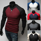 Men's Fashion Casual Slim Fit Long Sleeve T-shirt Tops Tee Shirts 5 Colors