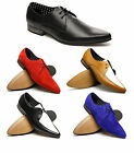 London Brogues JAM Mens Leather Suede Winklepicker Pointed Lace-Up Formal Shoes