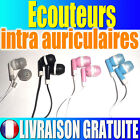 Ecouteurs intra auriculaires lecteur mp3 mp4 clip ipod iphone 3.5 jack stereo ..