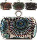 Colorful Sequined Women Bride Cocktail Party Evening Clutch Bag Handbag Purse